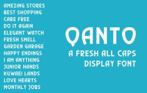 Qanto Display Font