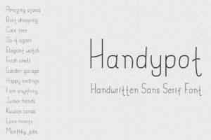 Handypot – Handwritten Sans Serif Font
