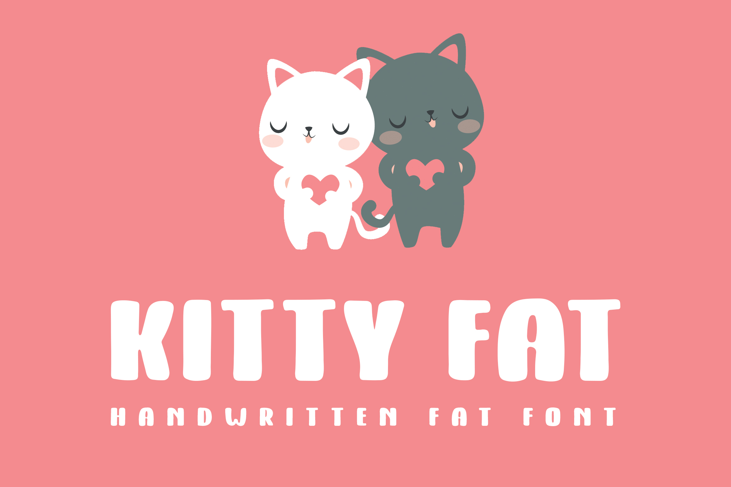 Kitty Fat – Handwritten Font