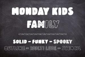 Monday Kids – 6 Fonts Family