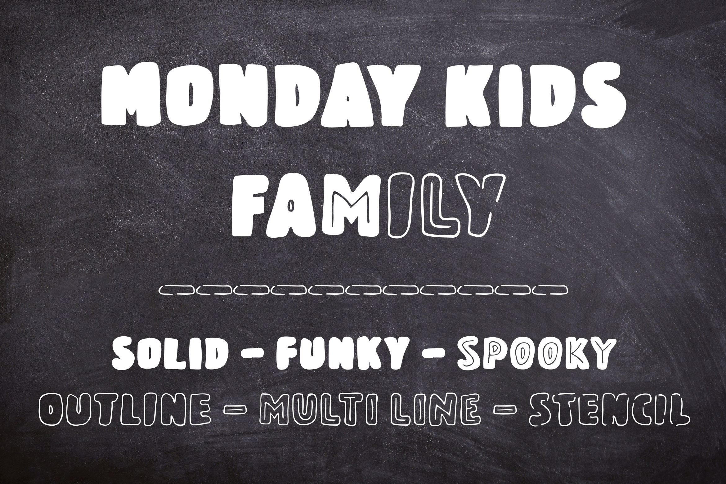 Monday Kids – 6 Fonts Family