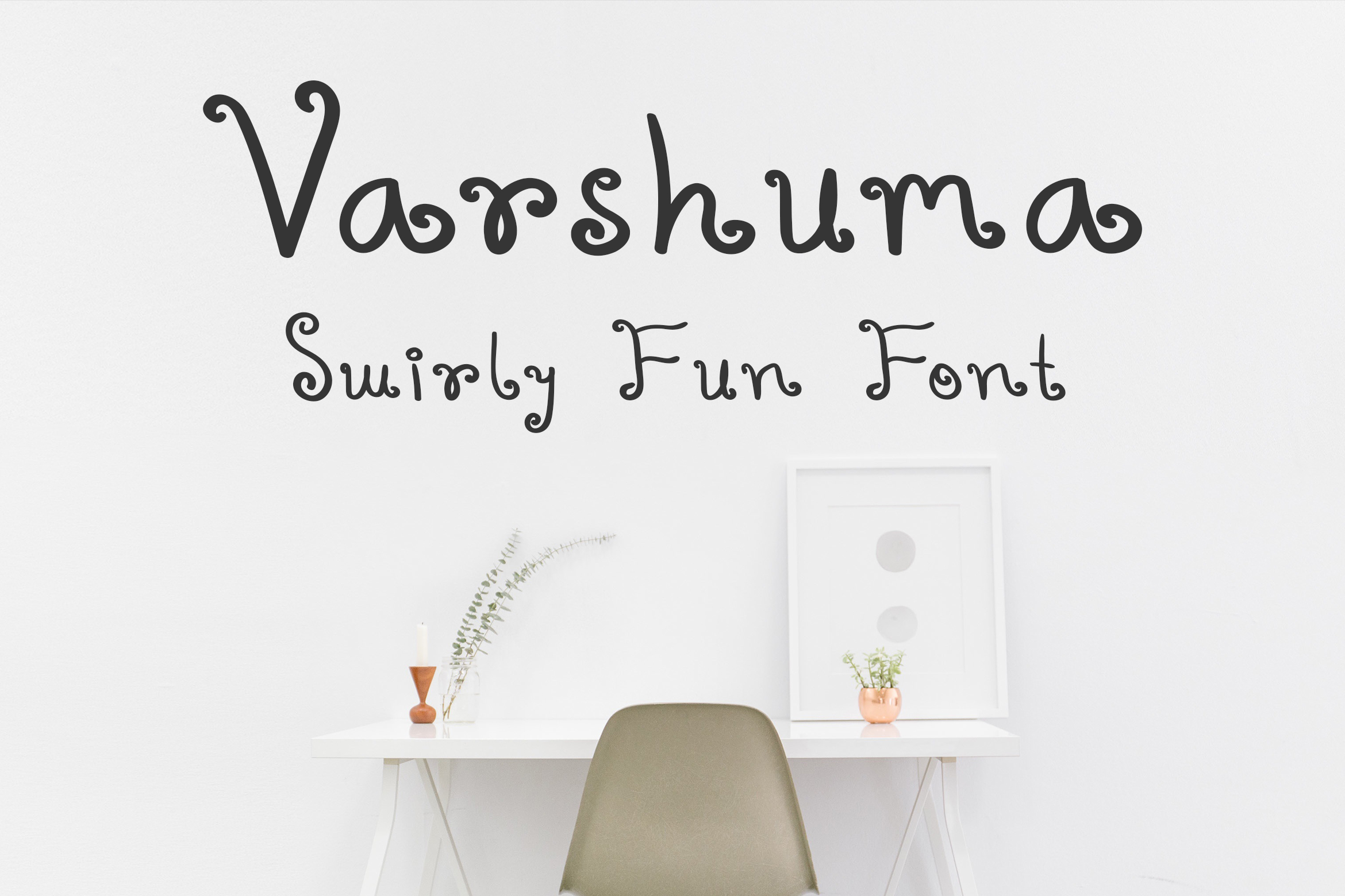 Varshuma – Handwritten Swirly Fun Font