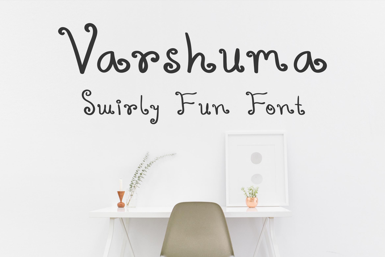 Varshuma – Handwritten Swirly Fun Font
